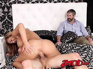 Olivia Austin plows her stepson