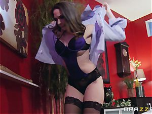 Married damsel Chanel Preston gets titfucked and her cooch pounding by thief