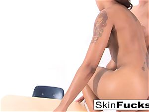 Classroom lesbos with skin and Alison