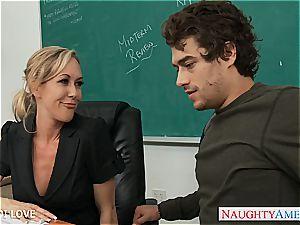 blonde schoolteacher Brandi love railing cock in classroom