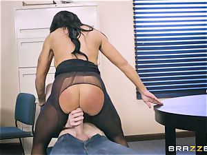 40-year-old assistant Simone Garza seduces her young manager Danny D