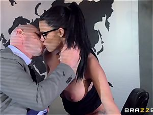 thick titted Peta Jensen screwed via the boardroom table