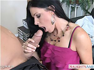 India Summer looks super-sexy in high stilettos getting plumbed