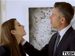 TUSHY secretary Makes Her manager Work For anal