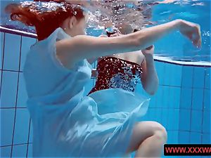 massive jugged unshaved and tattoed teenagers in the pool