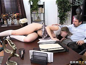 nasty schoolgirl Lena Paul penetrated by headmaster