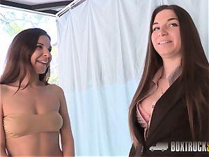 impressive Diana Dolce seduced by the lesbo massagist