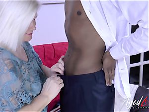 AgedLovE Lacey Starr and dark-hued guy hardcore