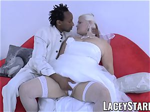 LACEYSTARR - grandma bride fed with spunk after nailing