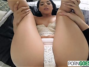 Gina Valentina bj's and tears up like bi-atch a thick dick