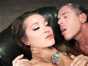 Dani Daniels gets her scorching labia crammed with rock hard trunk