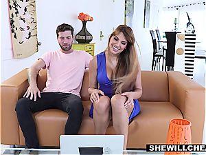 SheWillCheat - lucky Kid screws red-hot Latina milf