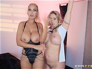 Bridgette B and Eva Notty get super-naughty with megacummer Kyle Mason