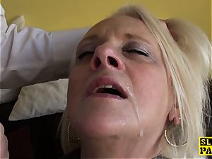 Bigtitted british gran gets harsh domination