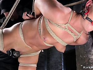 hog-tied hottie gets anal invasion fisted