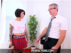 humping my super-steamy nubile Step-Daughter in Uniform