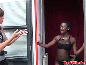 black european prostitute being pussyeaten