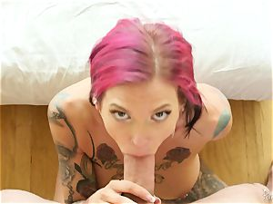 tatted goth mummy Anna Bell Peaks has hot voluptuous hook-up with her neighbor