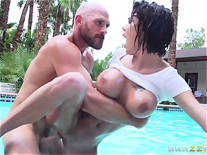 buxomy Peta Jensen - muddy fuckfest by the pool