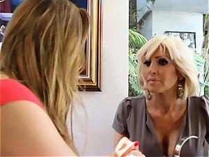 SEXYMOMMA blond scissoring with accomplished stepmom