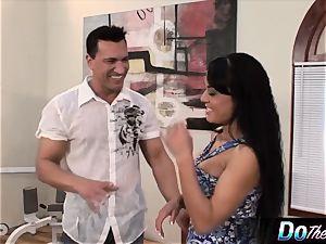 Mahina Zaltana penetrates in a porn boy for her husband