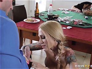 Sarah Jessie ravaging her hubbies poker buddy