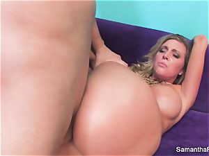 Samantha Saint gets her taut pinkish cunt nailed