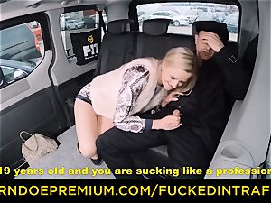 drilled IN TRAFFIC - towheaded goddess smashed deep