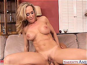 buxom blonde mummy Brandi love take fuckpole