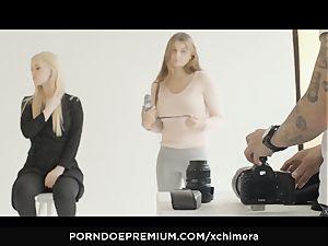 xCHIMERA - inked Misha Cross luvs fetish 3 way
