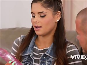Step daughter-in-law Katya Rodriguez teases Her Dads spear