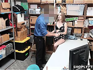 coerced to pound a man rod by the law's hard forearm