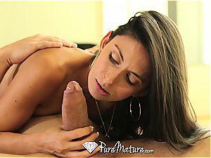 PureMature - Mature Nikki Daniels old puss nailed