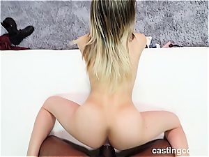 warm interracial casting with a 19-year-old superslut