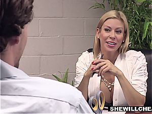 SheWillCheat - huge-titted mummy boss porks fresh worker