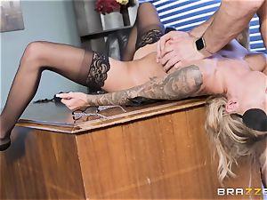 Karma Rx takes vulva boned in the office