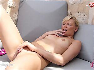 MyDirtyHobby - steamy platinum-blonde wanking outdoor!