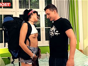 LETSDOEIT - super-naughty Traveler pummels successful German In Hostel