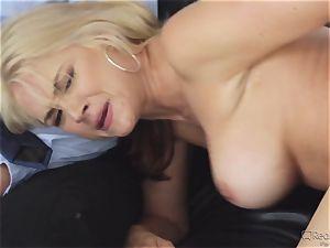 greedy wife Sarah Vandella gets her appetite suppressed by big black cock
