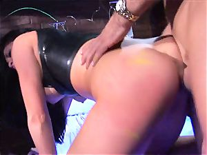 Audrey Bitoni gets her super hot cooter filled with knob