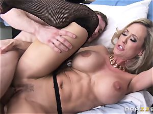 Rock stiff patient gets pounded by physician Brandi love