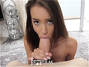 Charity Crawford is struck by her brother's morning man-meat
