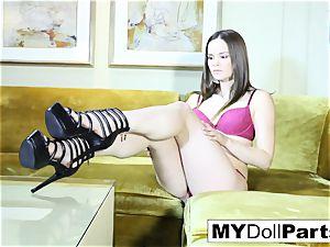 brunette hottie Gabriella unclothes off her lingerie