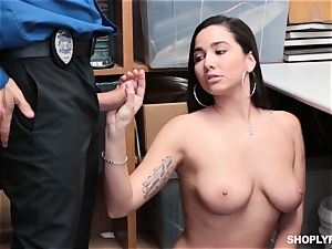 Karlee Grey fucked missionary by security guard