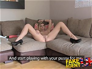 FakeAgentUK climaxes buttfuck romp and unloading in interview