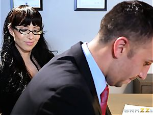 Jessica Jaymes salivates over a lawyers enormous trouser snake