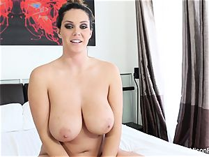 Interview with huge-boobed cutie Alison Tyler