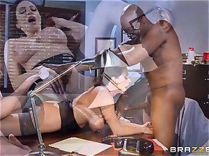 nasty office joy with Ariella Ferrera