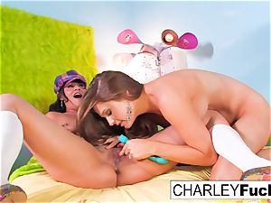Charley chase and Allison Moore play With Each Other