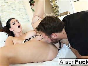 Alison takes on a ample dick